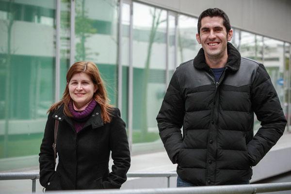 Els professors de la Universitat Carmen Botella i Màxim Cobos.