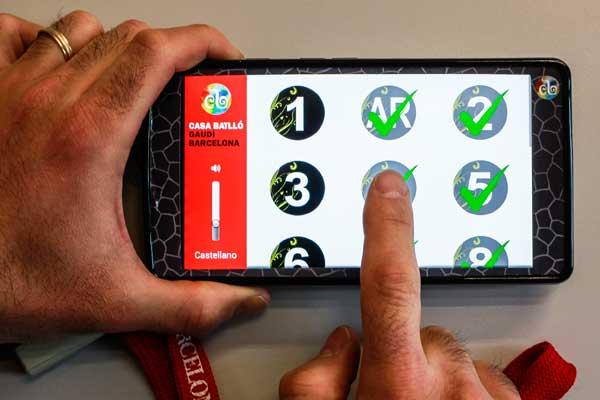 L'aplicació multimèdia dissenyada pels investigadors de la Universitat.