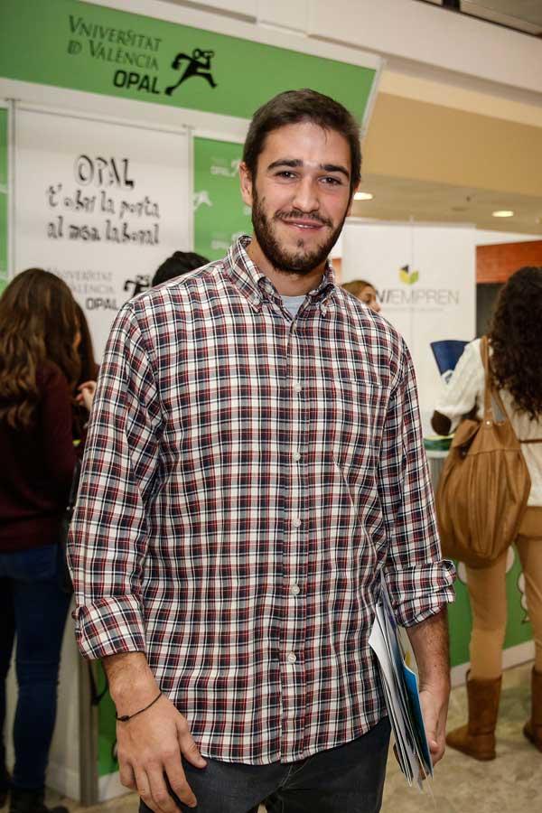 ván Català, estudiant d'últim any de Dret de la Universitat de València. Foto: Miguel Lorenzo