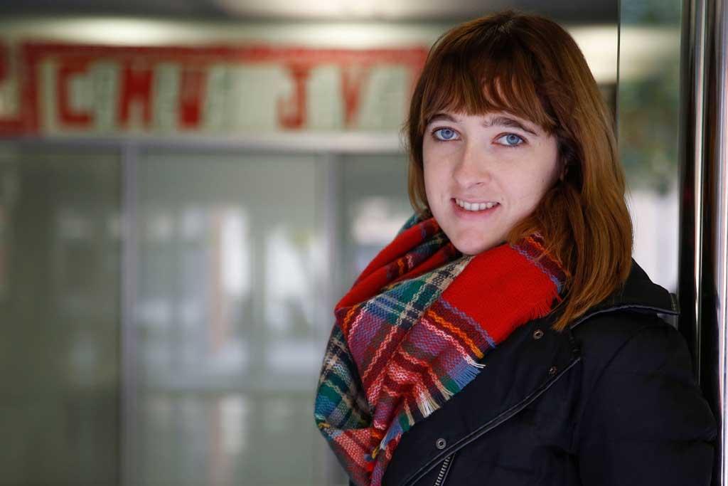 Ana Ramírez, secretària d'organització del sindicat d'estudiants Campus Jove a la Universitat de València. Foto: Miguel Lorenzo