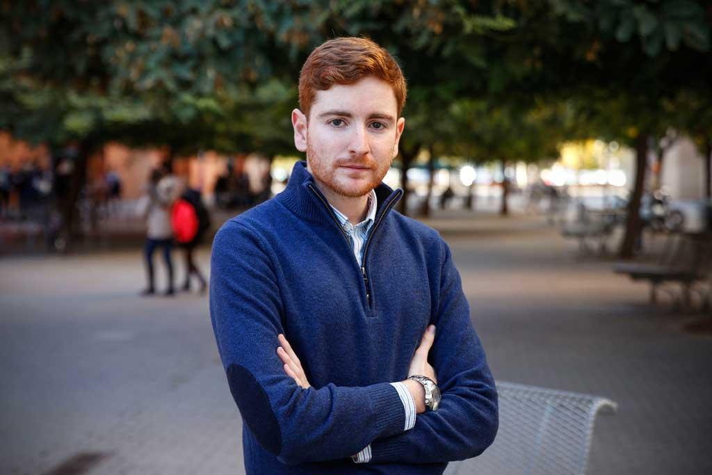 Guillem Martí, president d'Unió d'Estudiants Valencians, cursa el Màster en Política Econòmica i Economia Pública a la Facultat d'Economia. Foto: Miguel Lorenzo