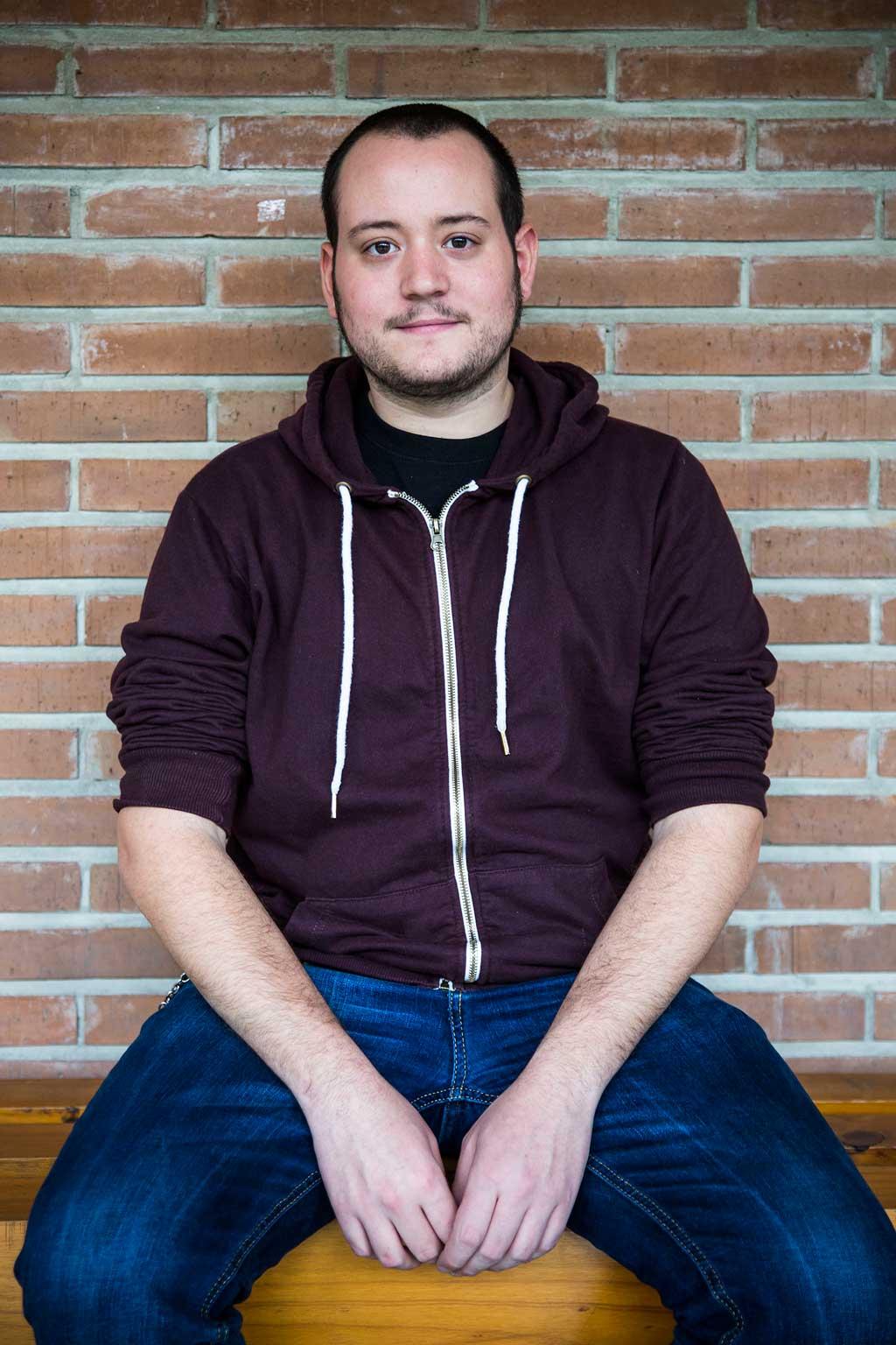 Hèctor Cuenca, estudiant d'Història. Pertany al Sindicat d'Estudiants dels Països Catalans (SEPC) i és membre del Consell de Govern. Foto: Miguel Lorenzo.
