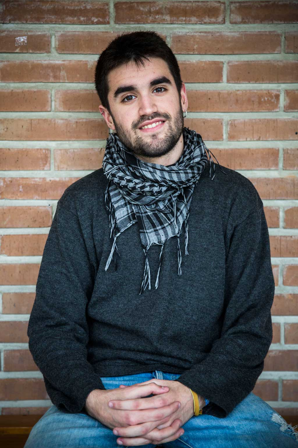 Rubén Fernández, estudiant d'Economia i membre del Consell de Govern. Pertany al sindicat d'estudiants Bloc d'Estudiants Agermanats (BEA-ÍTACA). Foto: Miguel Lorenzo.