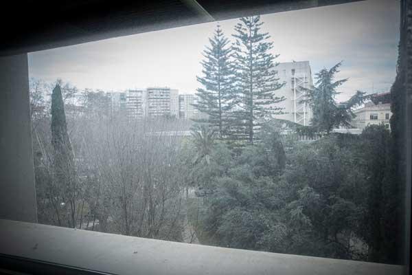 Vista de la ciutat de València des del despatx de Vicenç Rosselló. Foto: Miguel Lorenzo