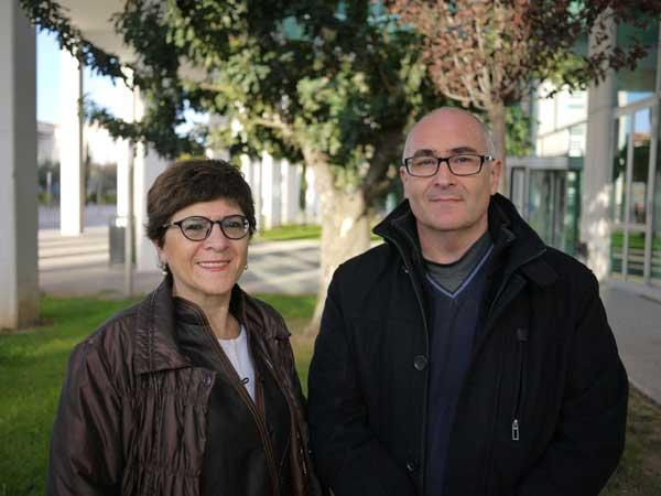 Capitolina Díaz i Carles Simó, professora i professor del Departament de Sociologia i Antropologia Social de la Facultat de Ciències Socials.