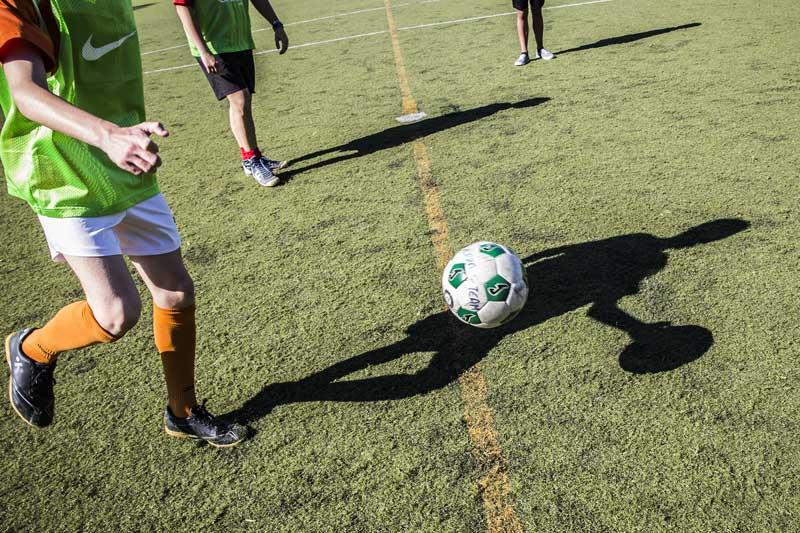 Disputa de la final de la Lliga Màster a les instal·lacions esportives del Campus dels Tarongers de la Universitat de València. Foto: Miguel Lorenzo.