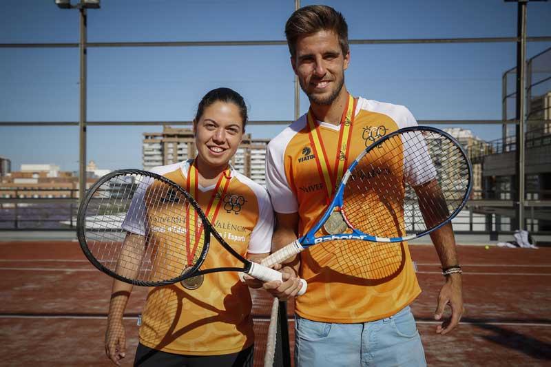 Ainhoa Zamora estudia Ciències de l'Activitat Física i de l'Esport a la Universitat de València. Foto: Miguel Lorenzo.