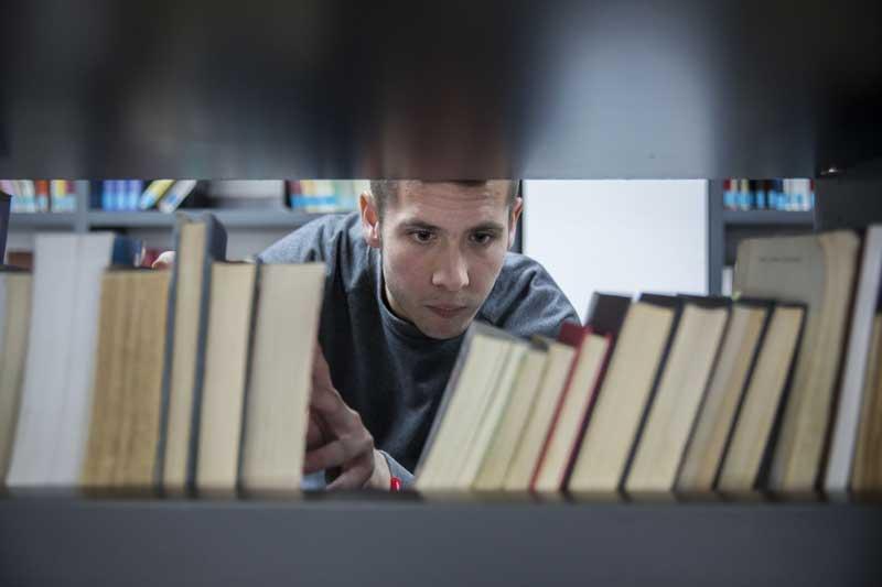 Vicent Boix, estudiant de Pedagogia. Foto: Miguel Lorenzo.