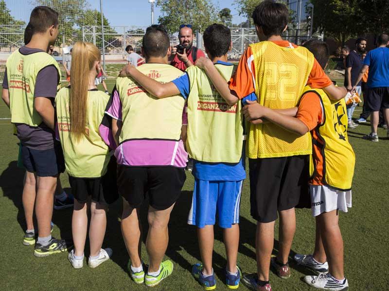 Preparant un dels partits de la Lliga Màster. Foto: Miguel Lorenzo.