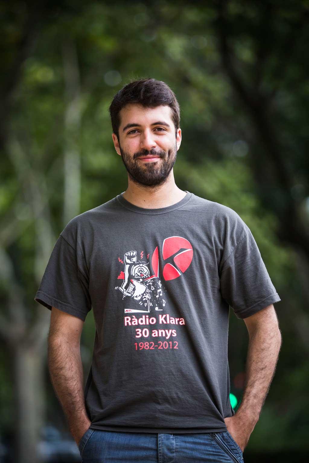 Marcos Solera, matemàtic, aquest curs 2015-2016 completarà els seus estudis a Cambridge. Foto: Miguel Lorenzo.