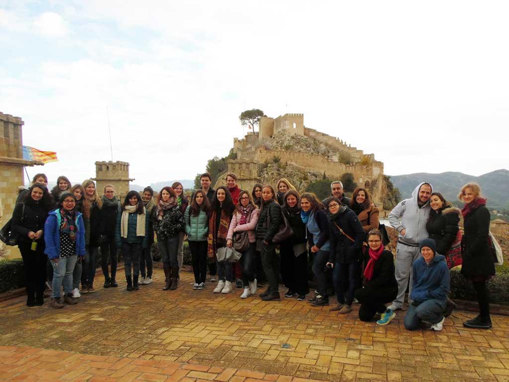L'alumnat Erasmus i Internacional, l'edició passada del programa Erasmus al Territori, a Cullera.