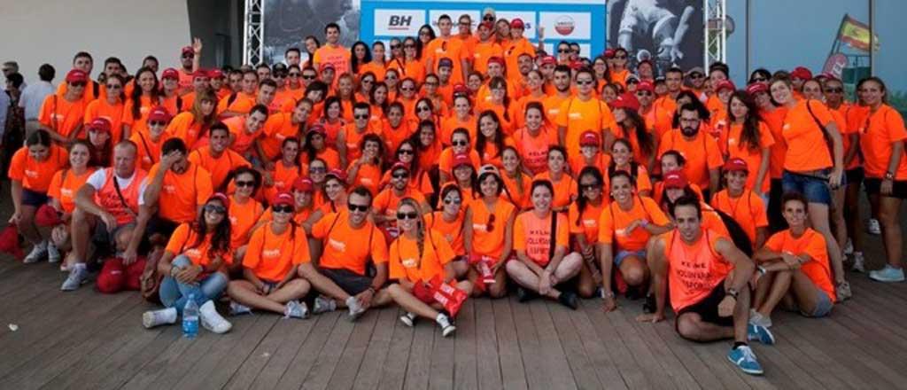 Voluntaris esportius de la Universitat de València. Foto: Servei d'Educació Física i Esports de la Universitat.