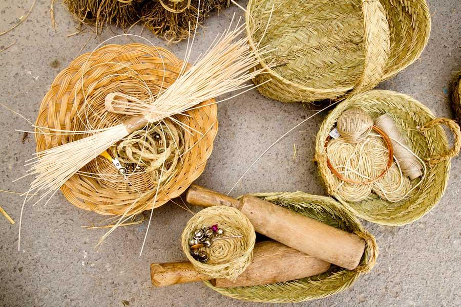 esparto basketry handcrafts Mediterranean Balearic