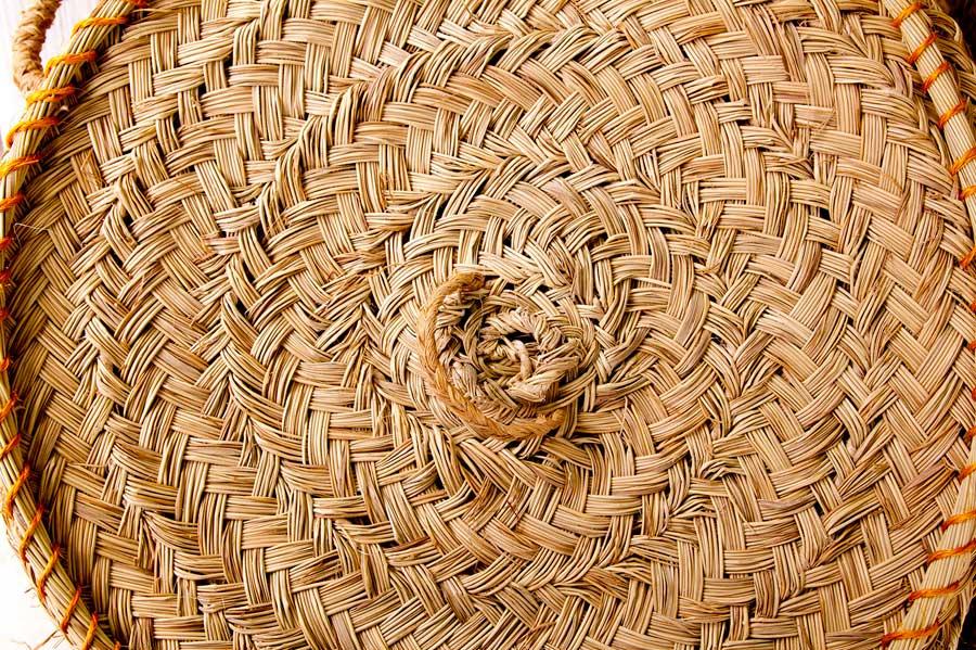 Treballs amb diverses fibres vegetals.