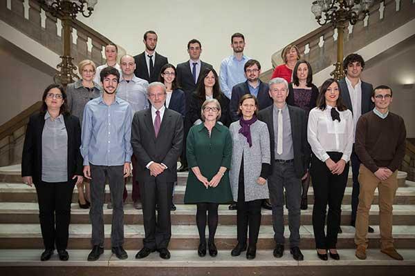 Foto de grup de l'acte de lliurament dels premis.