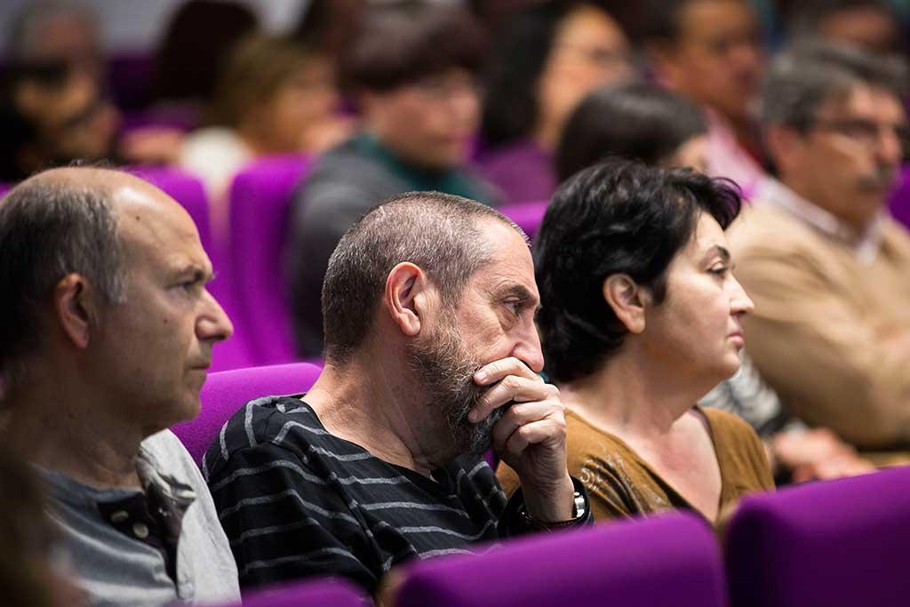 Imatge del públic assistent a la presentació del documental.