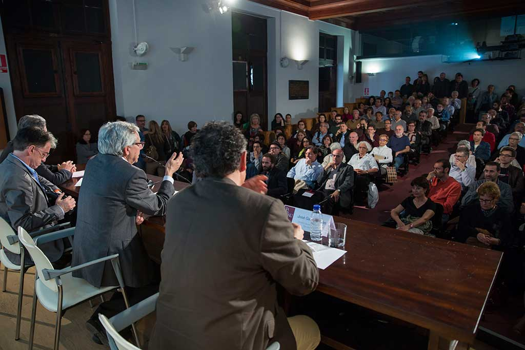 Un moment de la presentació de l'Aula.