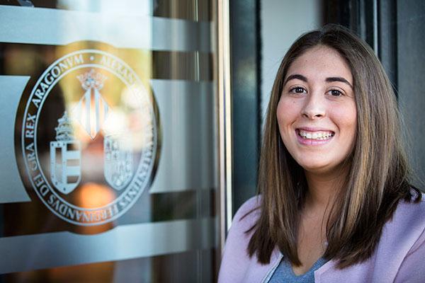 Pilar Asensi, guanyadora del premi Yuzz Fintech. Foto: Miguel Lorenzo.