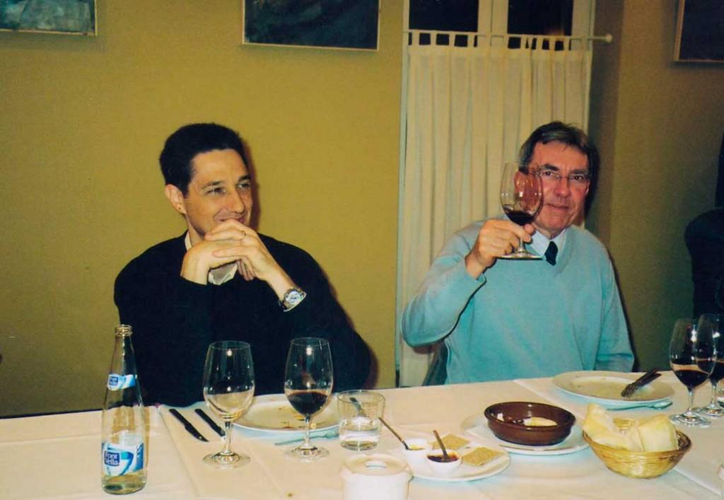 Pablo Gaviña amb Jean-Pierre Sauvage