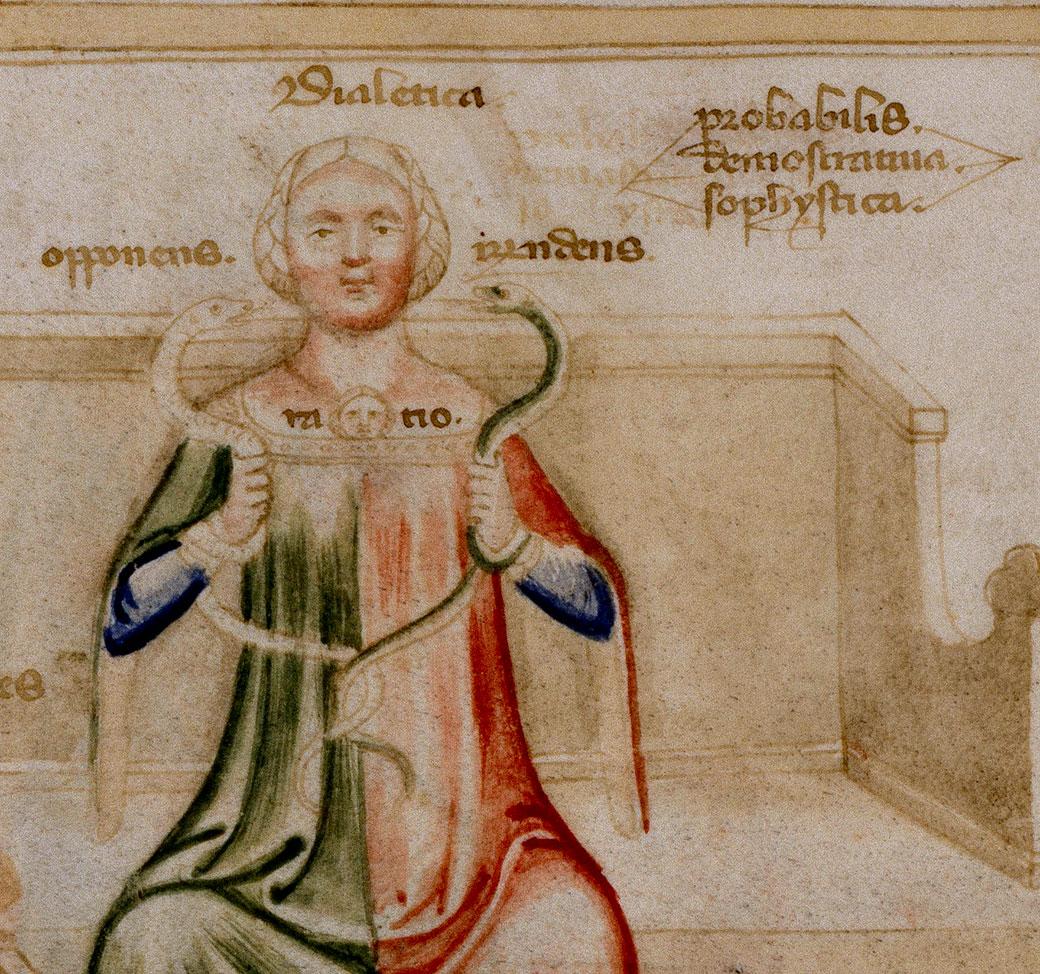 """Il·lustració d'un còdex milanés dels *Visconti del que l'autor de el """"Curial"""" va prendre referents iconogràfics i va plagiar textos amb errates."""